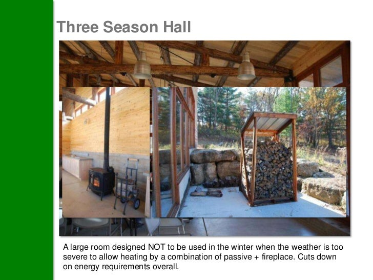 #2 - Site Harvested Lumber:EmbodiedCarbon in BuildingMaterials        The building was designed around the size and quanti...