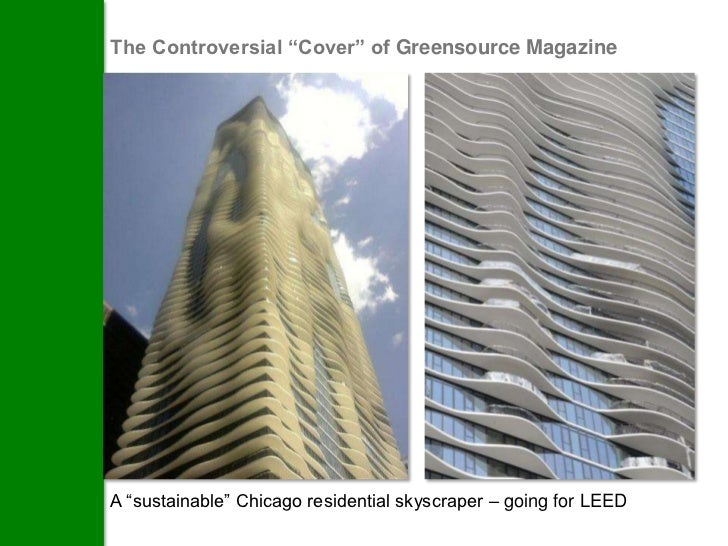"""The Controversial """"Cover"""" of Greensource MagazineA """"sustainable"""" Chicago residential skyscraper – going for LEED"""