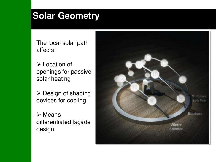 Passive Lighting Strategies:Orientation and building planning- start with solar geometry- understand context, sky dome, ad...