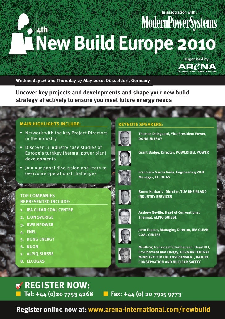 In association with:               4th          New Build Europe 2010                                                     ...