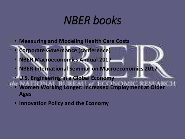 nber working papers series #25717