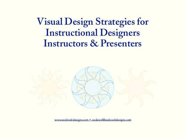 © 2012 Angela C. DowdVisual Design Strategies forInstructional DesignersInstructors & Presenterswww.acdowd-designs.com • a...