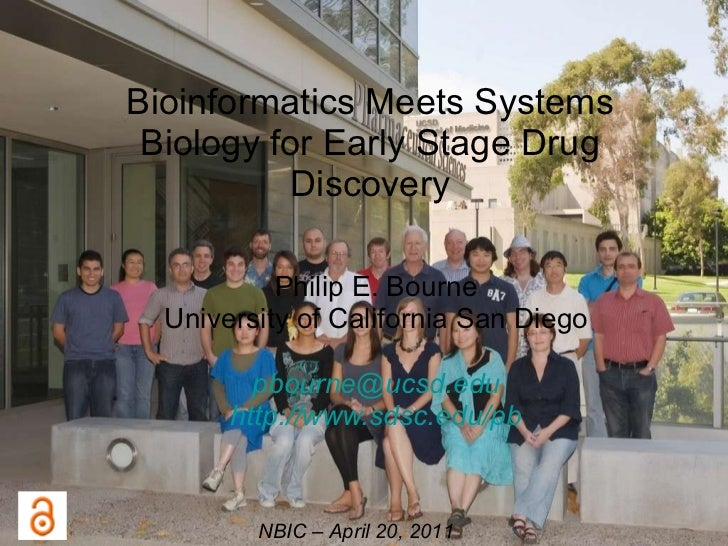 Bioinformatics Meets Systems Biology for Early Stage Drug Discovery Philip E. Bourne University of California San Diego [e...