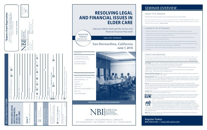 reSolvinG leGal          and financial iSSueS in                      elder care                                 Help your...
