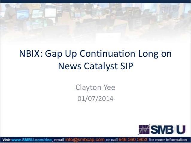 NBIX: Gap Up Continuation Long on News Catalyst SIP Clayton Yee 01/07/2014