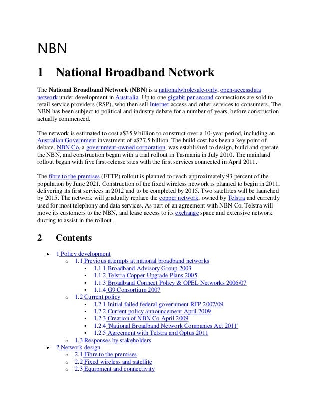 impact of national broadband network on Executive summary broadband is the great infrastructure challenge of the early band communications network the congressional mandate in early 2009, congress directed the federal communications commission (fcc) to develop a national broadband plan to.