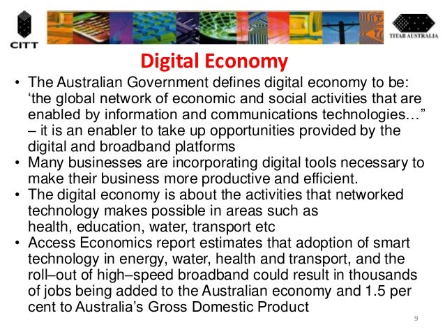 national digital economy This is an exciting goal, advancing the nation's digital economy to let business prosper and improve the quality of people's lives.