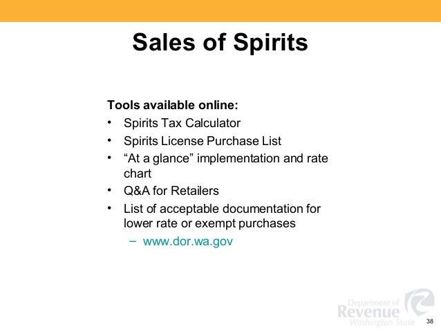 Washington State Sales, Use and B&O Tax Workshop