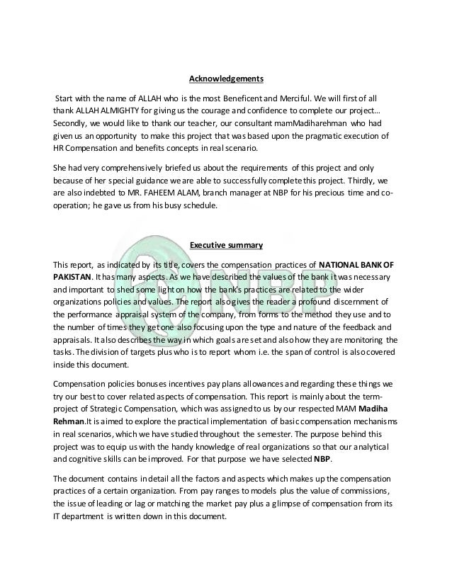 nbp marketing report View essay - nbp report from econ 101 at comsats institute of information technology nbp takht-e-nasrati branch karak internship report on national bank of pakistan, takht-e-nasrati branch district.