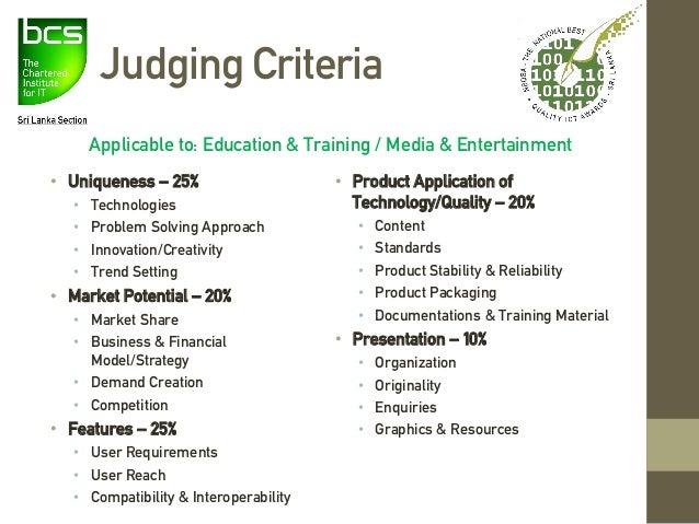 2017 Judging Information