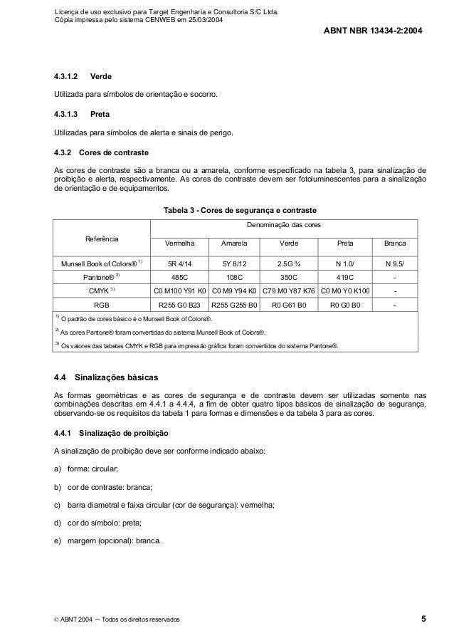 Licença de uso exclusivo para Target Engenharia e Consultoria S/C Ltda.Cópia impressa pelo sistema CENWEB em 25/03/2004   ...