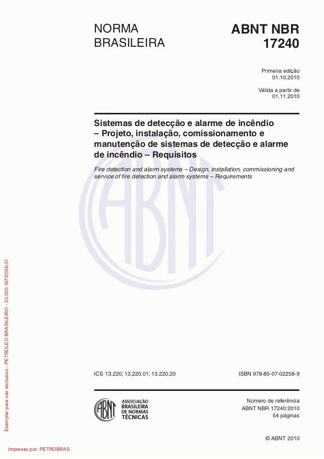 Válida a partir de edição ABNT NBRNORMA BRASILEIRA © ABNT 2010 ICS ISBN 978-85-07- Número de referência 54 páginas 17240 P...