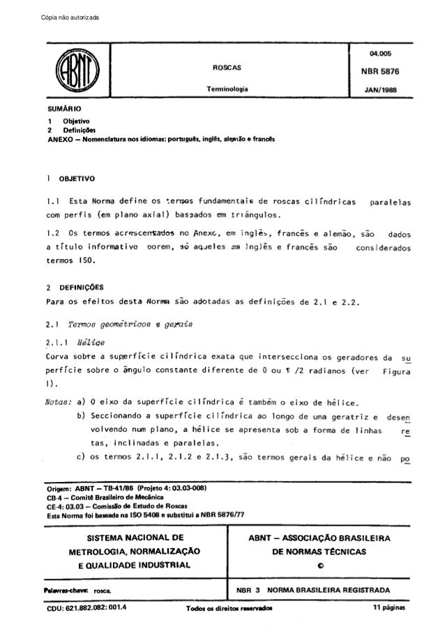 Cópia não autorizada  C6pia  impressa  pelo Sistema  CENWIN  ROBCAS  SUMARIO Objativo 1 2 DefinigLIer ANEXO - Nomenclahlra...