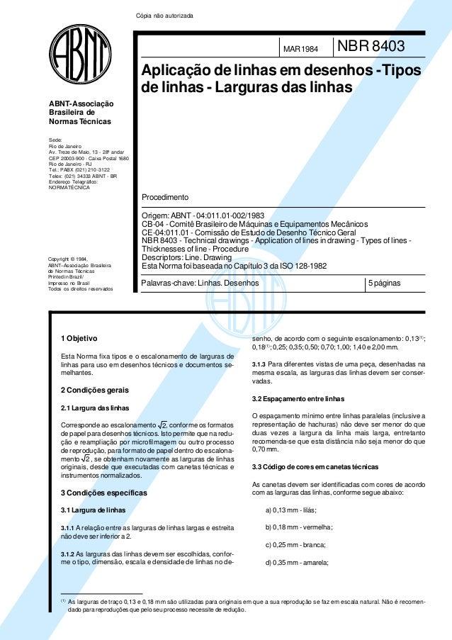 Copyright © 1984,ABNT–Associação Brasileirade Normas TécnicasPrinted in Brazil/Impresso no BrasilTodos os direitos reserva...