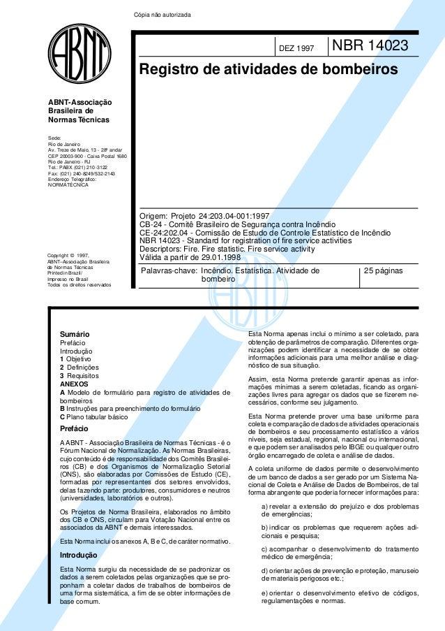 Copyright © 1997, ABNT–Associação Brasileira de Normas Técnicas Printed in Brazil/ Impresso no Brasil Todos os direitos re...
