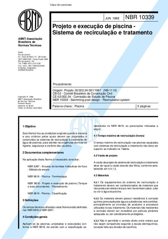 Copyright © 1988, ABNT–Associação Brasileira de Normas Técnicas Printed in Brazil/ Impresso no Brasil Todos os direitos re...