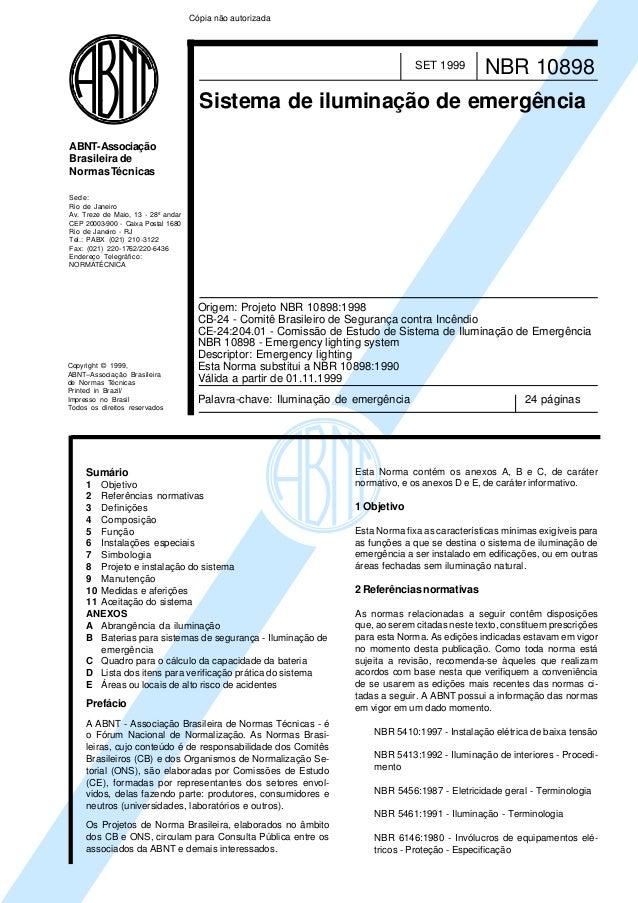 Copyright © 1999, ABNT–Associação Brasileira de Normas Técnicas Printed in Brazil/ Impresso no Brasil Todos os direitos re...
