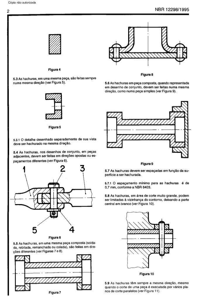 Nbr 12298   representacao de area de corte por meio de hachuras em desenho tecnico Slide 2