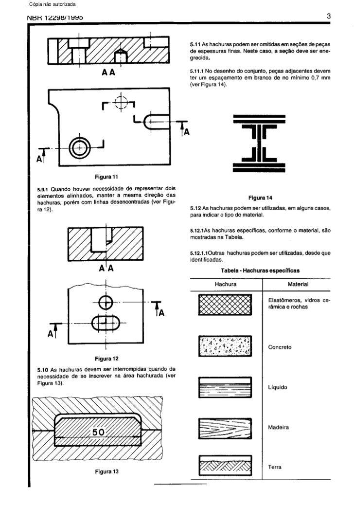 Nbr 12298   representacao de area de corte por meio de hachuras em desenho tecnico Slide 3