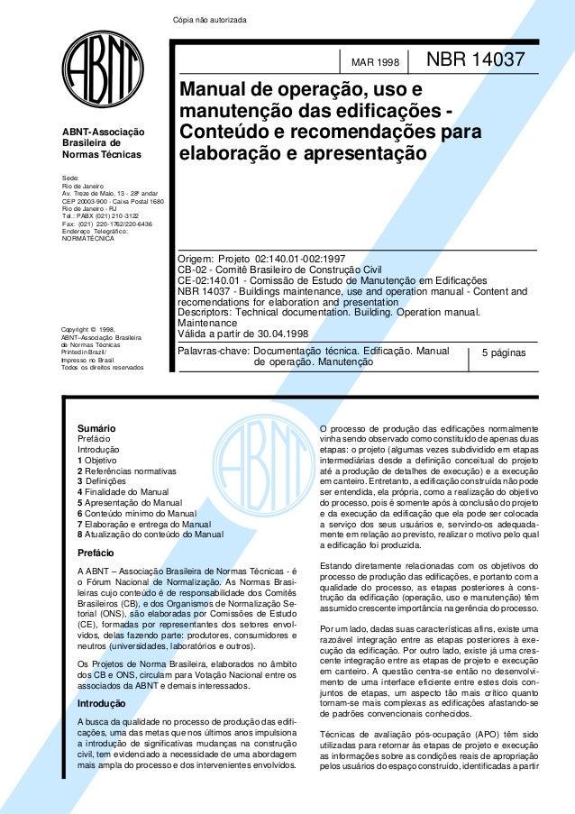 Cópia não autorizada                                                                          MAR 1998            NBR 1403...