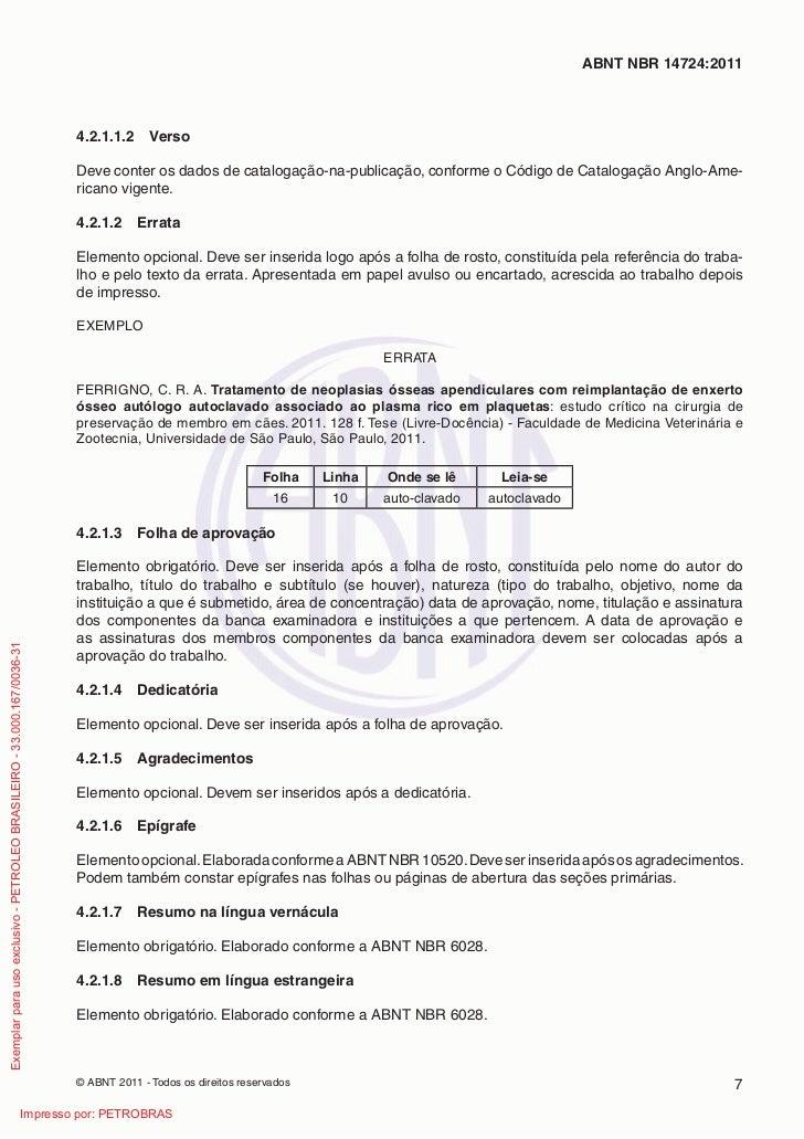 ABNT NBR 14724:2011                                                                         4.2.1.1.2     Verso           ...