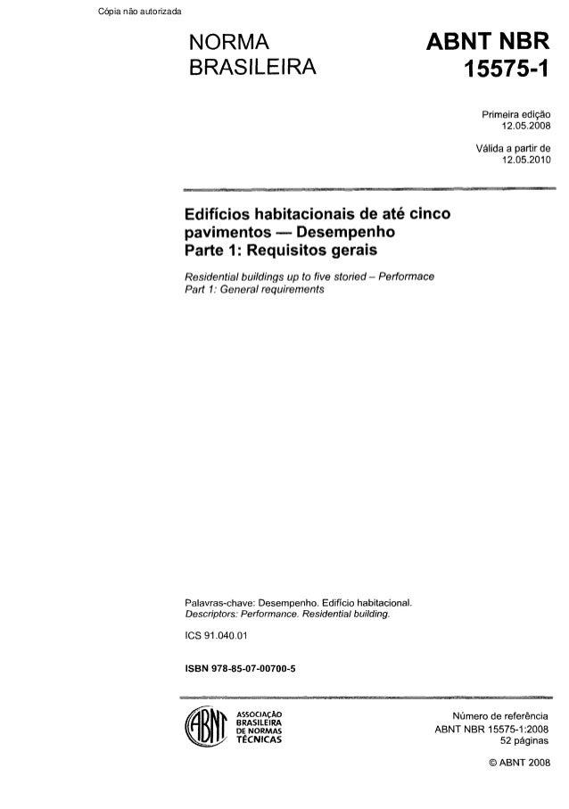 Norma de desempenho nbr 15575: free download, borrow, and.