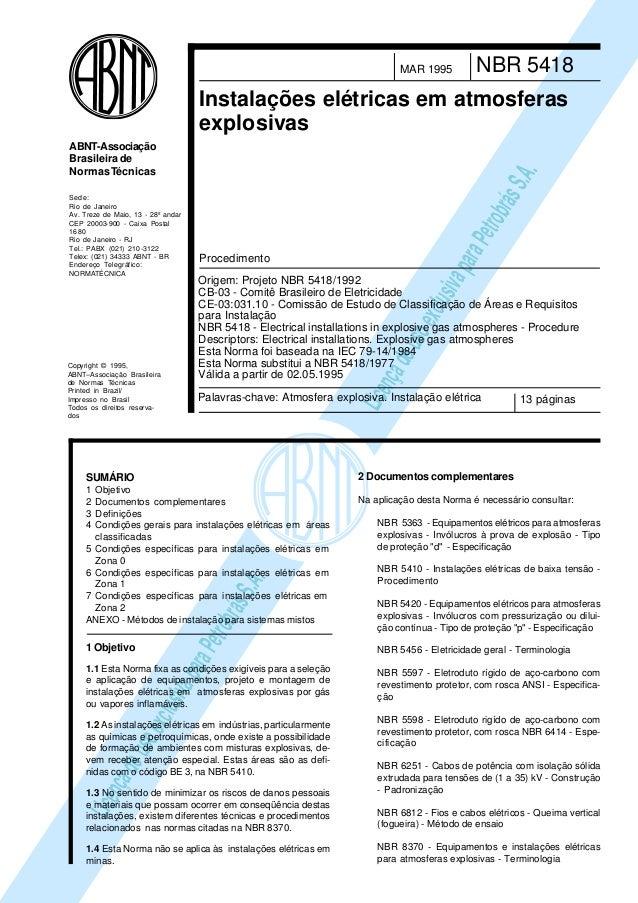 LicençadeusoexclusivaparaPetrobrásS.A. LicençadeusoexclusivaparaPetrobrásS.A. Copyright © 1995, ABNT–Associação Brasileira...