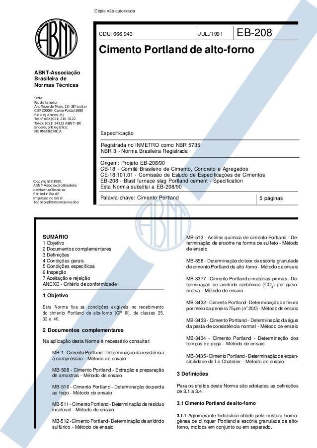 Copyright©1990, ABNT–AssociaçãoBrasileira deNormasTécnicas PrintedinBrazil/ ImpressonoBrasil Todososdireitosreservados Sed...