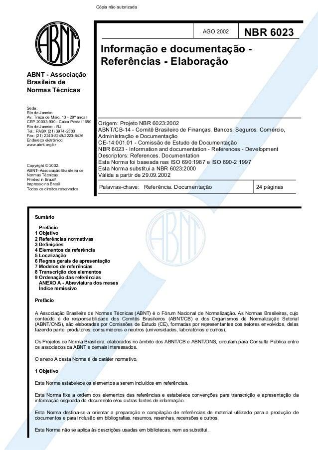 ABNT - Associação  Brasileira de  Normas Técnicas  Sede:  Rio de Janeiro  Av. Treze de Maio, 13 - 28º andar  CEP 20003-900...