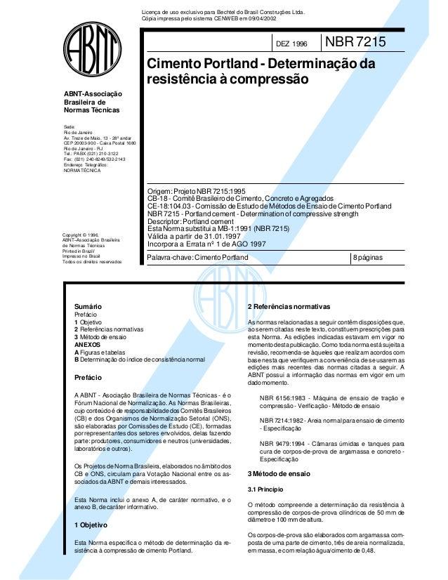 Copyright © 1996, ABNT–Associação Brasileira de Normas Técnicas Printed in Brazil/ Impresso no Brasil Todos os direitos re...