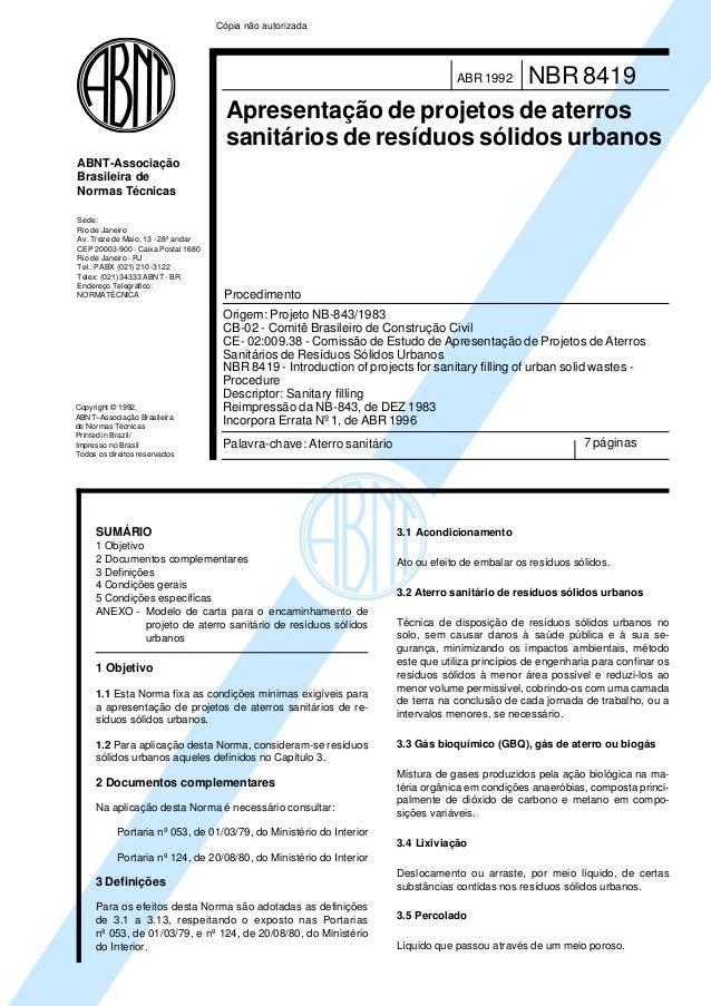 Cópia não autorizada                                                                  NBR 8419         ABR 1992           ...