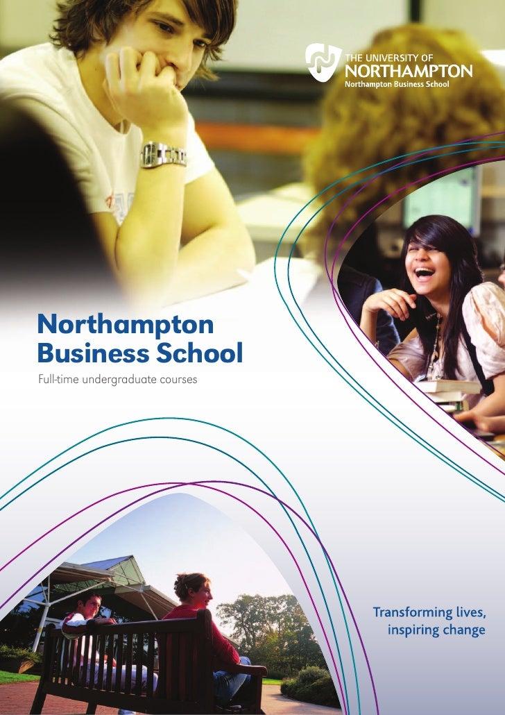 NorthamptonBusiness SchoolFull-time undergraduate courses