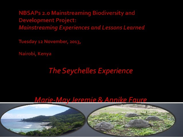 The Seychelles Experience Marie-May Jeremie & Annike Faure