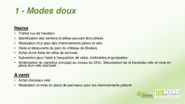 2 - Covoiturage Réalisé • Développement du site internet www.technopole.covicites.fr • Communication et journées de promot...