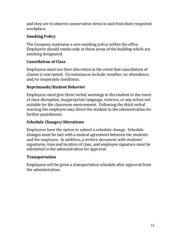 Employee Uniform Policies 38