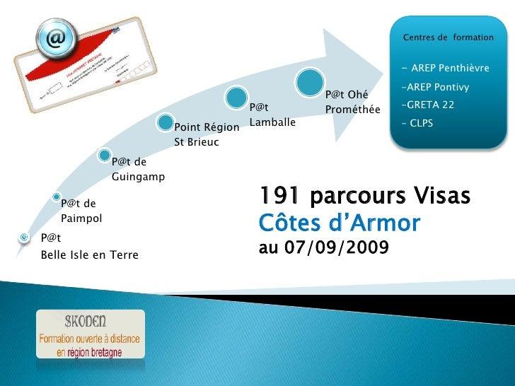 Centres de  formation<br />- AREP Penthièvre<br />-AREP Pontivy<br />-GRETA 22<br />- CLPS<br />191 parcours Visas<br />Cô...