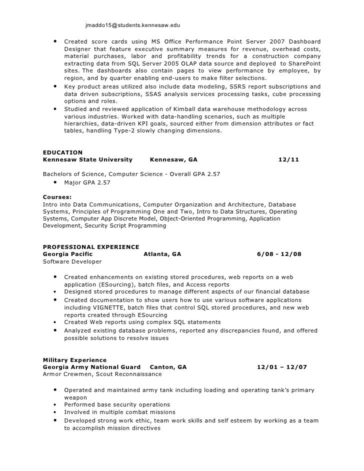 software developer resume 2 james colby maddox s business