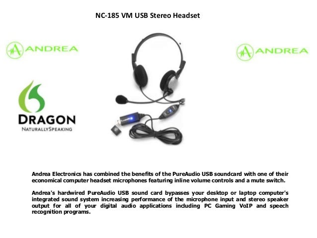 Andrea Electronics has combined the benefits of the PureAudio USB soundcard with one of theireconomical computer headset m...