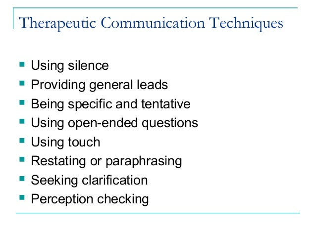 therapeutic communication in nursing essay