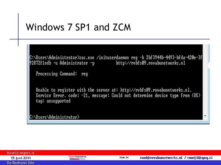 Windows 7 SP1 deployment with ZENworks Configuration Management 11 S…