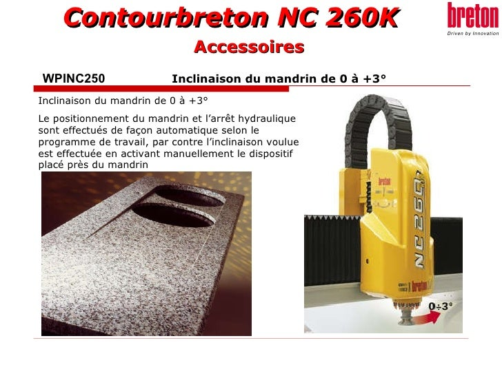 WPINC250    Inclinaison du mandrin de 0 à +3° Inclinaison du mandrin de 0 à +3° Le positionnement du mandrin et l'arrêt hy...