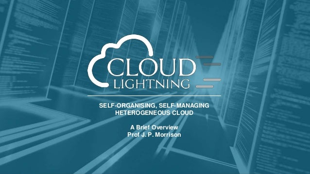 SELF-ORGANISING, SELF-MANAGING HETEROGENEOUS CLOUD A Brief Overview Prof J. P. Morrison