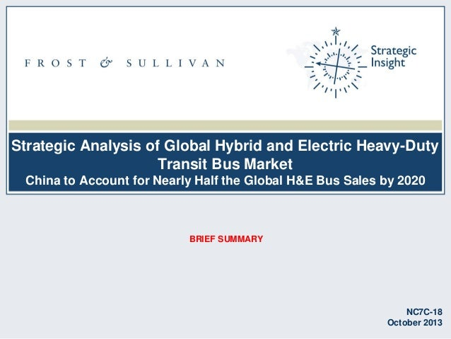 Strategic Analysis of Global Hybrid and Electric Heavy-Duty Transit Bus Market China to Account for Nearly Half the Global...