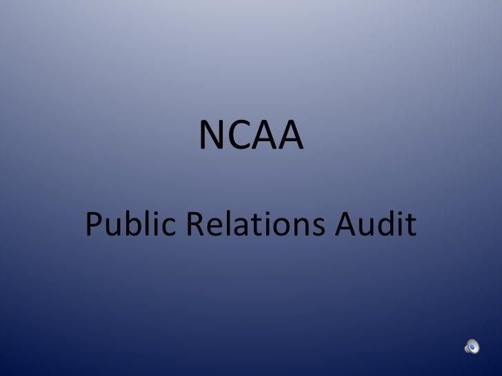 NCAA Public Relations Audit
