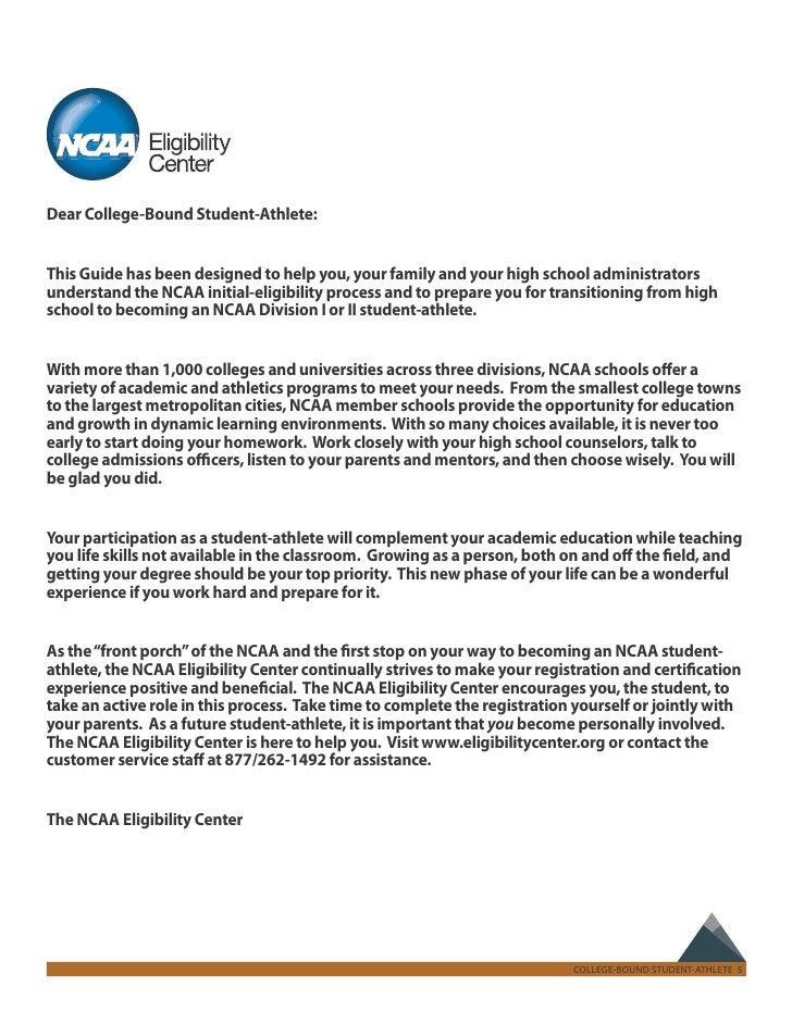 NCAA Recruiting Guide for the College Bound Athlete