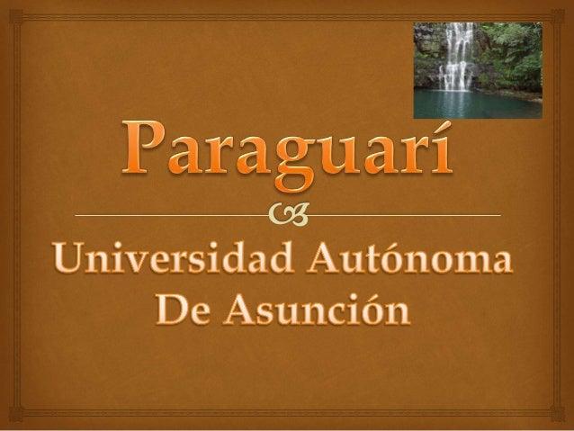 Paraguarí País Paraguay • Departamento Paraguarí Ubicación 25°38′00″S 57°9′00″O • Altitud 87 msnm • Distancia 66 km Superf...