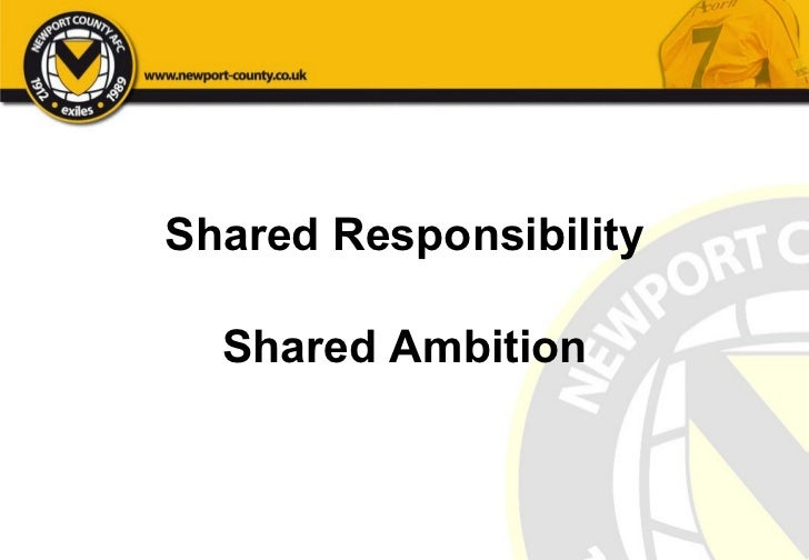 Shared Responsibility Shared Ambition