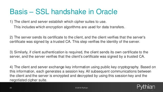 SSL certificates in the Oracle Database without surprises