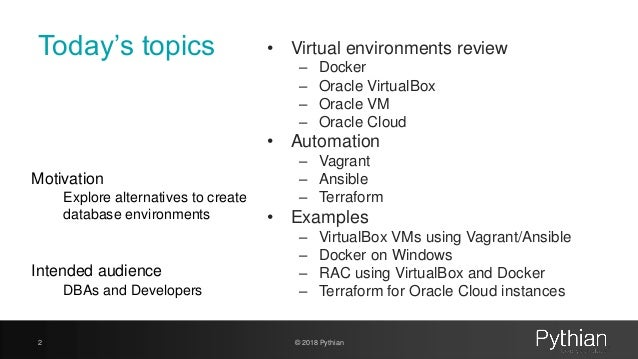 Practical guide to Oracle Virtual environments