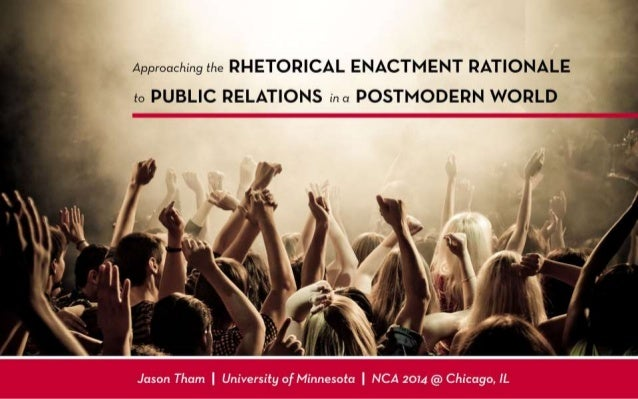 Rhetorical Enactment of PR